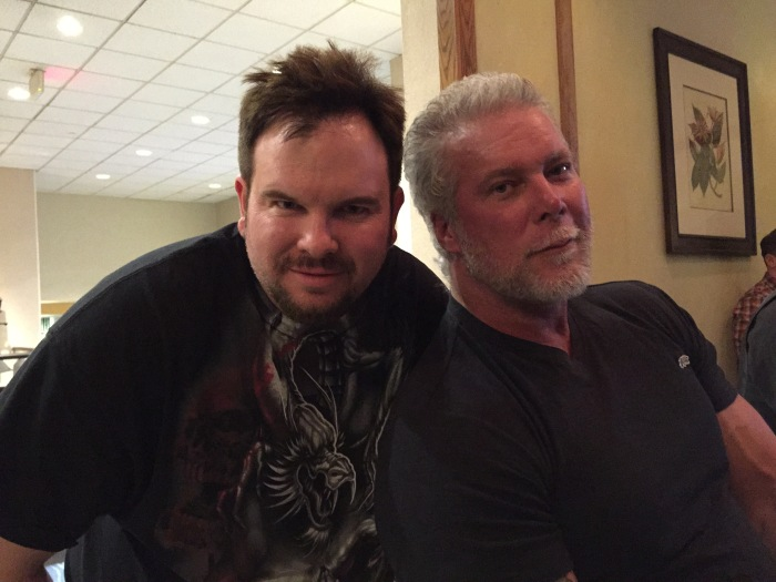 Mike Messier (left) and Kevin Nash