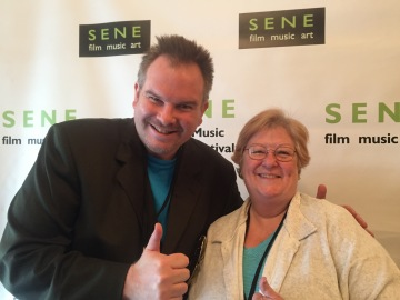 Mike Messier with film producer Mary DeBerry, SENE, 2016